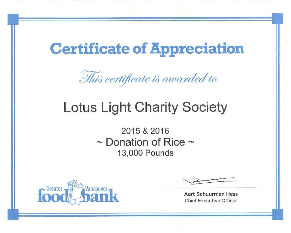 Llcs 2016 annual scholarship award and rice donation presentation food bank certificate of appreciation yadclub Image collections