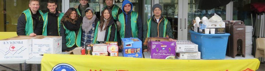 華光功德會2017年2月關懷遊民熱食專案 獲珠城大酒樓第三度慷慨贊助新鮮熱食