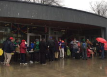 LLCS March Meal for Homeless Program Provides Warm Meals in the Cold Rain
