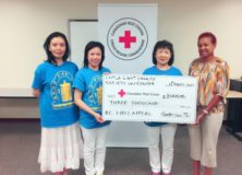 LLCS present BC Fire Appeal Fund to Red Cross