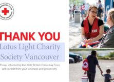 Thank You Certificate Issued by Red Cross for LLCS's BC Fire Appeal Campaign